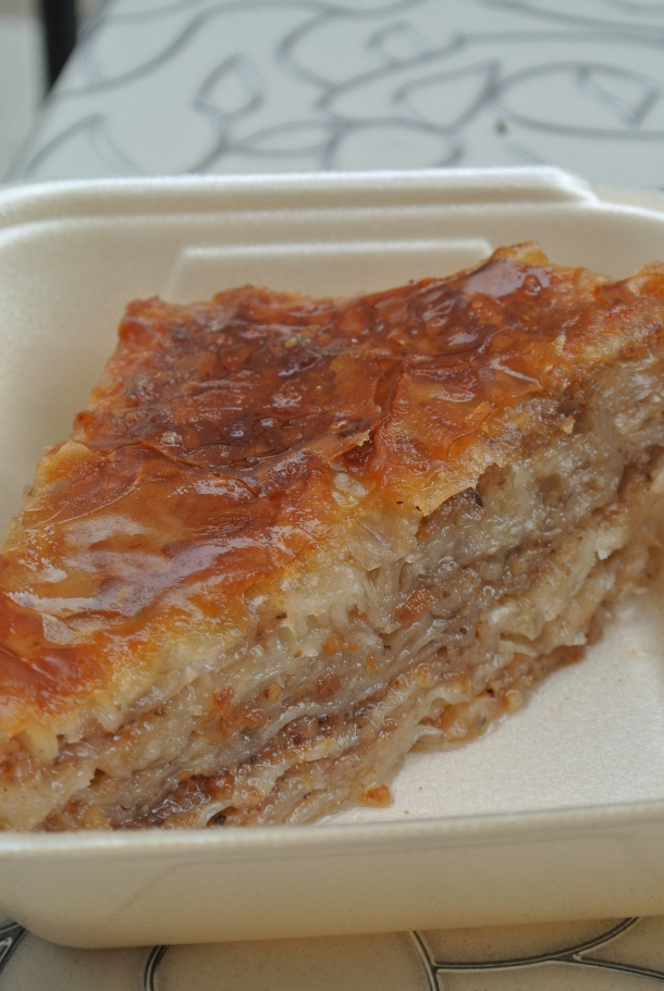 Croatian style baklava with walnuts.